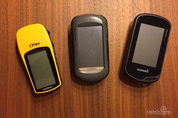 Evolution by Garmin: eTrex H, Oregon 300 und Oregon 600 (v.l.)